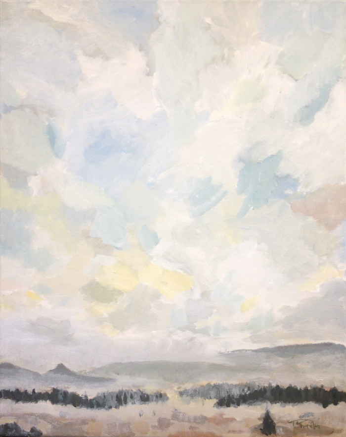 Looking West from Wilkerson - Acrylic on Canvas by Tim F. Thornton